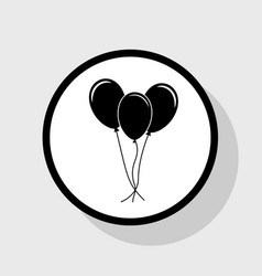 balloons set sign flat black icon in vector image vector image