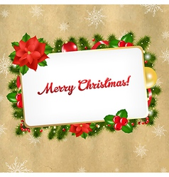 Christmas Vintage Blank Gift Tag vector image vector image