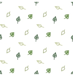 Seamless stylized green leaves pattern vector image