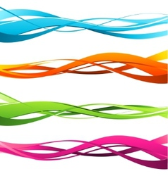 Set of wavy design elements vector image vector image