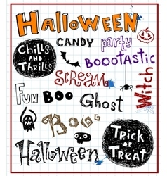 Halloween inscriptions vector