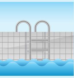 realistic swimming pool vector image