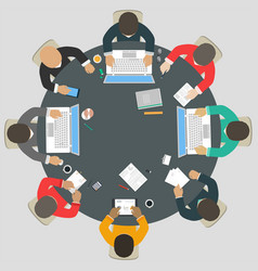 teamwork for roundtable vector image vector image