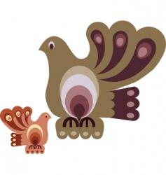 vintage decorative birds vector image vector image