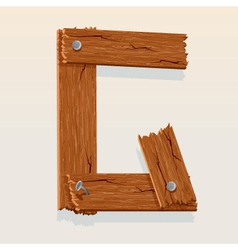 wooden letter g vector image vector image