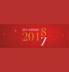 2018 celebration banner gold 2017 numbers vector image