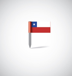 Chile flag pin vector