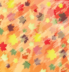 colorful background with maple leaves vector image vector image