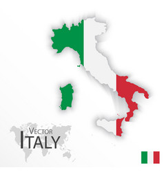 italy flag and map vector image