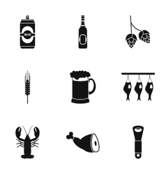 Pub icons set simple style vector image vector image