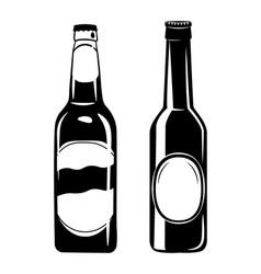 set of beer bottles in ink vector image