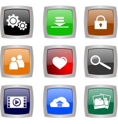 tech buttons vector image vector image