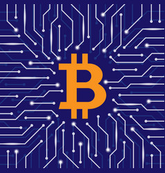 bitcoin blockchain wallpaper vector image