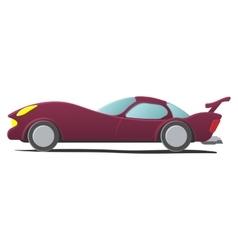 Cartoon sportscar vector image vector image