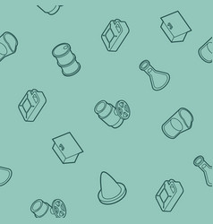 gas outline isometric pattern vector image