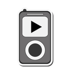 mp3 music player icon vector image