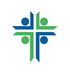 People church logo design vector