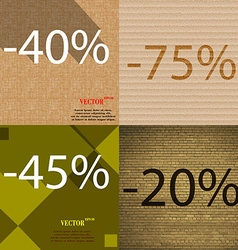 75 45 20 icon Set of percent discount on abstract vector