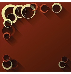 abstract circles dark red vector image