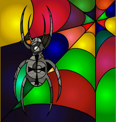 Abstract colored spider vector