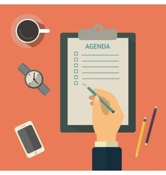 Agenda list concept Business vector image