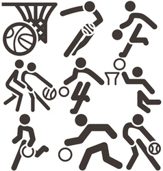basketball icons vector image