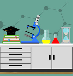 biological science experiment vector image