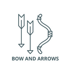 bow and arrows line icon bow and arrows vector image