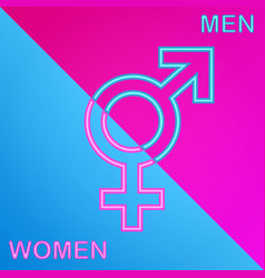 boy and girl gender sign vector image