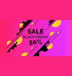 Bright colorful poster sale 50 percent vector