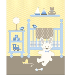 Bunny nursery vector