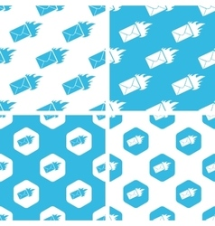 Burning envelope patterns set vector