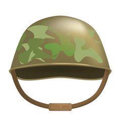 Camouflage helmet mockup realistic style vector