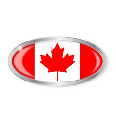 Canadian flag oval button vector