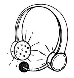 Cartoon image of call center headset vector
