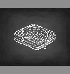 Chalk sketch waffle vector
