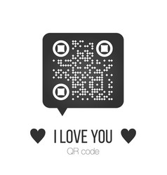 chat bubble with qr code and scan me sign scanned vector image