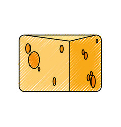 cheese dairy food vector image