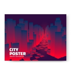 City modern poster vector image