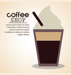coffee shop ice cold straw vector image