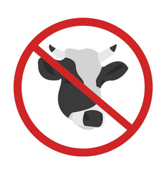 cow no sing design not allowed vector image