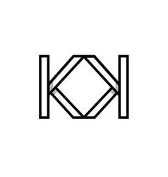creative modern geometric fashion kk monogram logo vector image