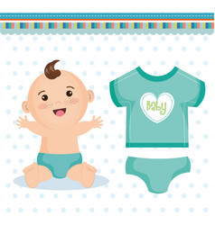 Cute baby design vector