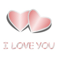 Design heart background with words I love you vector image