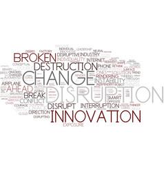 Disruption word cloud concept vector