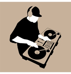 Dj scratch vector