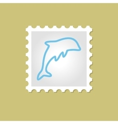 Dolphin stamp vector