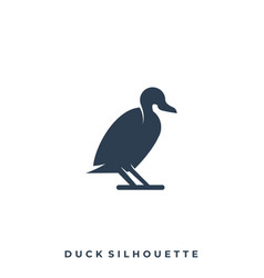 Duck silhouette template vector
