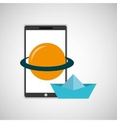 Education online smartphone app astronomy creative vector