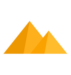 egyptian pyramid icon flat style vector image